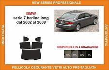 pellicola oscurante vetri bmw serie 7 berlina long dal 2002-2008 kit posteriore