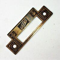 ONE Antique Victorian Eastlake Ornate Mortise Lock Strike Plate Reclaimed
