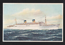vintage Home Lines SS Homeric ship Italy postcard