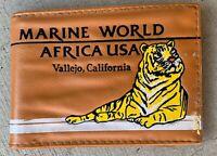 Vintage Marine World Africa USA Vallejo California Wallet Tiger