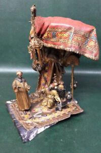 "Fine Autrian Bronze Cold Painted Bergman ""The Jeweler"" Sculpture by Anton Chotka"