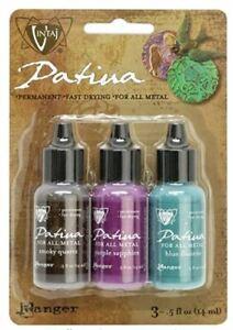 Ranger Ink Vintaj Patina 0.5oz - Gemstone Fair 3 Color Kit 1 Pack FREE SHIPPING!