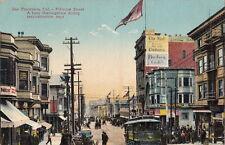 Postcard Fillmore Street Busy During Reconstruction San Francisco Ca