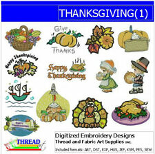 Embroidery Design CD - Thanksgiving(1) - 13 Designs - 9 Formats - Threadart