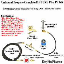 CK+:UNIVERSAL PROPANE COMPLETE FIRE PIT KIT – INCLUDES ALL EXCEPT THE BURNER!