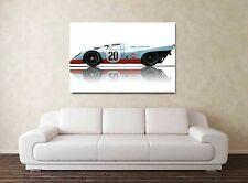 Gulf Porsche 917 30x20 pulgadas impresión enmarcado cuadro Lienzo -