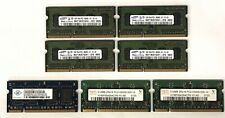 Lot of 7 Computer Memory (512MB & 1GB) Ram Cards