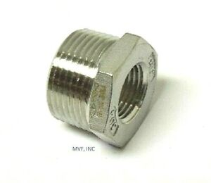 "3/4"" X 1/2"" 150# Cast Threaded (NPT) Hex Bushing 304 Stainless Steel <SS12050441"