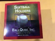 Softball Square Display Holders for memorabilia Ball Cube Qube Large