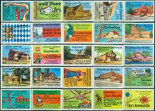 25 alte Gasthaus-Streichholzetiketten aus Deutschland #890