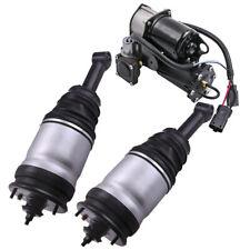 Pair Rear Shocks Spring Strut & Air Pump for Land Rover LR3 (Disco 3) 05-09