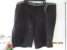 Kim Rogers Ladies Sz 24W Instantly Slims Denim Belted Walking Shorts