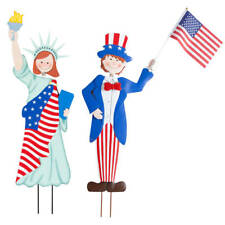 Miles Kimball Patriotic Boy and Girl Garden Stakes by Fox River Creations, 2