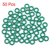 50pcs Green Universal FKM O-Ring Seal Gasket Washer for Auto Car 7 x 1.5mm