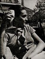 1930/75 Vintage MAN RAY Coffee Shop MERET OPPENHEIM Portrait Photo Art 12x16
