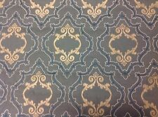 Colefax Fowler Embroidered Trellis Upholstery Fabric Purcell Blue 4.3yd F4007-04