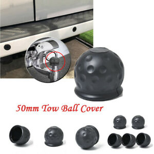 5 Pcs Universal 50mm Towbar Ball Cover Soft Rubber Protective Cap Tow Hook Cover
