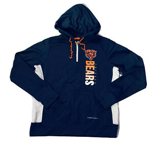 New Majestic NFL Chicago Bears Women's Blue Thermabase Hoodie Jacket Size S