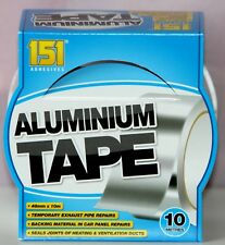 Aluminium Foil Tape Silver Reflective Duct Self Adhesive Roll Tap 48 mm x 10 M