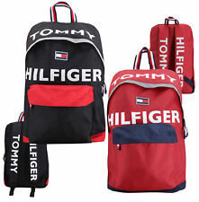 Tommy Hilfiger логотип холст багаж школьный рюкзак через плечо молния книга сумка