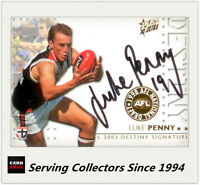 2003 Select AFL XL Ultra Series Destiny Signature Card DS10 Luke Penny (St.k)