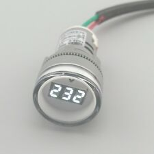 22MM TOMZN AC 60-500V LED Voltmeter voltage meter indicator pilot light white