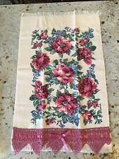 Floral Tea Towel~KITCHEN Decor~Great for hanging on a decorative towel rack