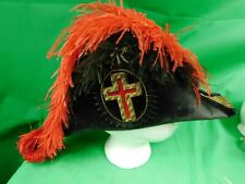 VINTAGE Masonic Knights Templar Commander hat