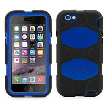 NEW GRIFFIN SURVIVOR ALL TERRAIN CASE FOR APPLE IPHONE 6 - BLACK BLUE GB38905
