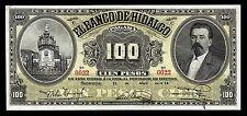 El Banco de Hidalgo 100 Pesos April 21 1914, M373a / BK-HID-26 XF+