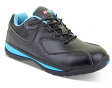 B-Click Footwear CF862 Safety Microfibre Anti Slip Sole Ladies Trainer Shoe