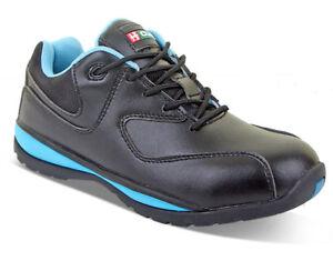 B-Click Footwear CF862 Seguridad Microfibra Antideslizante Suela Damas Zapatilla