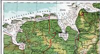 Ostfriesland WHV BHV Cuxhaven 1920 orig. Atlas-Teilkarte Emden Norderney Borkum