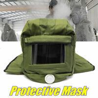 Sand Blasting Hood Blast Cap Anti Dust Wind Face Protector Sandblaster Helmet