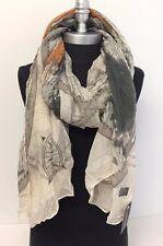 Fashion Women Girl Chiffon Scarf Printed Long Large Soft Scarf Shawl Wrap Khaki