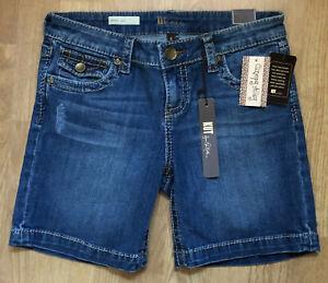 KUT FROM THE KLOTH NATALIE Women's L Rise Dark Wash Bermuda Jean Shorts sz 4 $70