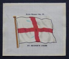 SCARCE John Sinclair Silk ST GEORGES CROSS issued in 1914 FLAGS Sixth Series