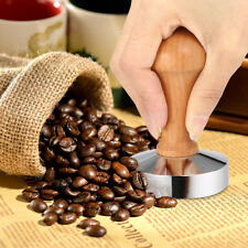 Stainless Steel Press Cafe Coffee Tamper Barista Espresso Flat Base Tool 58mm