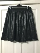 Lovely boohoo wet look skater style skirt size 12 new without tags