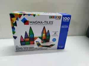NEW Magna Tiles Clear Colors 100-Piece Set by Valtech - Sale off Today !
