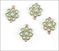 Lime Flowers Jewelry Connectors (4)
