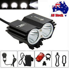 SolarStorm 8000Lm 2x XM-L T6 LED Fornt Bicycle Bike Light Headlight + Rear Light