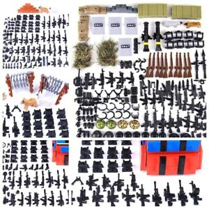 Swat Team Legos Military Minifigures in Bulk Weapon Army City Police Gun Blocks