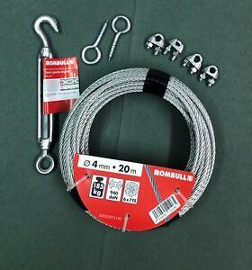 Catenary Kit, Galvanised Wire Rope, Vine Catenary Line, Plant Training wire kit