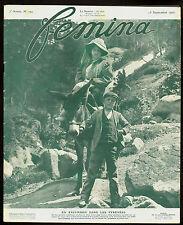 Magazine FEMINA, la Parisienne en Excursion dans les PYRENEES.1907