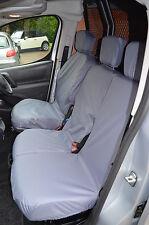 Citroen Berlingo Van 2008+ Tailored Waterproof Front Triple 3 Grey Seat Covers