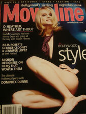 september 2001 Movieline Heather Graham cover + Simpsons AD