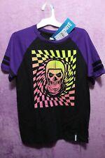 NEW♈Boy's Printed SS Knit T shirt by Fortnite size L~Black/multi Skully head