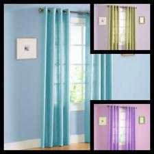 1Pc Solid Semisheer Grommet Faux Silk Window Curtain Panel Versatile Decor Mira
