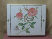 NEW Christineholm Porcelain Rose Two Tier Dessert Stand